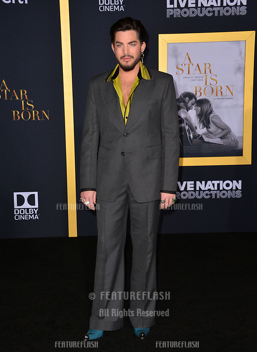 LOS ANGELES, CA. September 24, 2018: Adam Lambert at the Los Angeles premiere for &quot;A Star Is Born&quot; at the Shrine Auditorium.<br /> Picture: Paul Smith/Featureflash