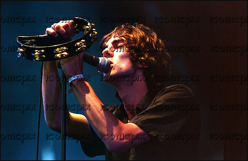 THE VERVE -  Richard Ashcroft<br />  - performing live at Pinkpop Festival Landgraaf Netherlands - 11 Jun 1998.  Photo <br /> Credit : Paul Bergen/Dalle/IconicPix