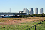 December 17, 2016, Tokyo, Japan - A new volleyball arena for the 2020 Olympics will be built as originally planned at this empty lot in Tokyos waterfront, the City Hall said on Friday, December 16, 2016. The construction of Ariake Arena was part of the original plan for the Games but being under pressure to cut soaring costs, the city government was inclined to use an existing facility in nearby Yokohama. (Photo by Natsuki Sakai/AFLO) AYF -mis-