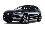 Stock pictures of low aggressive front three quarter view of a 2018 Volvo XC60 Momentum 5 Door SUV