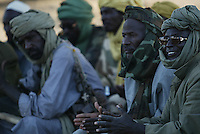 high commanders Of the SLA (sudan liberation army) attend a commanders meeting in Birmaza, north Darfur on Nov 2004.