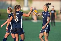 Allston, MA - Sunday July 17, 2016: Erica Skroski, Tasha Kai during a regular season National Women's Soccer League (NWSL) match between the Boston Breakers and Sky Blue FC at Jordan Field.