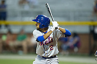 Raphael Ramirez (2) of the Kingsport Mets at bat against the Burlington Royals at Burlington Athletic Stadium on July 18, 2016 in Burlington, North Carolina.  The Royals defeated the Mets 8-2.  (Brian Westerholt/Four Seam Images)