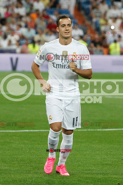 Real Madrid´s Lucas Vazquez during Santiago Bernabeu Trophy match at Santiago Bernabeu stadium in Madrid, Spain. August 18, 2015. (ALTERPHOTOS/Victor Blanco)