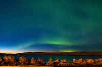 Polarlichter über der Halbinsel Geldinganes. Reykjvik, 07.03.2019