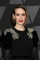 HOLLYWOOD, CA - NOVEMBER 11: Sarah Paulson at the AMPAS 9th Annual Governors Awards at the Dolby Ballroom in Hollywood, California on November 11, 2017. Credit: David Edwards/MediaPunch /NortePhoto.com