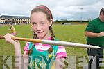 Sarah OConnor An Riocht who won the u13 Javelin Munster Championship in An Riocht Castleisland last Saturday week.