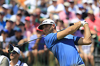 Dustin Johnson (USA) tees off the 1st tee to start his match during Friday's Round 2 of the 117th U.S. Open Championship 2017 held at Erin Hills, Erin, Wisconsin, USA. 16th June 2017.<br /> Picture: Eoin Clarke | Golffile<br /> <br /> <br /> All photos usage must carry mandatory copyright credit (&copy; Golffile | Eoin Clarke)