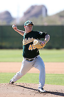 Shawn Haviland, Oakland Athletics 2010 minor league spring training..Photo by:  Bill Mitchell/Four Seam Images.