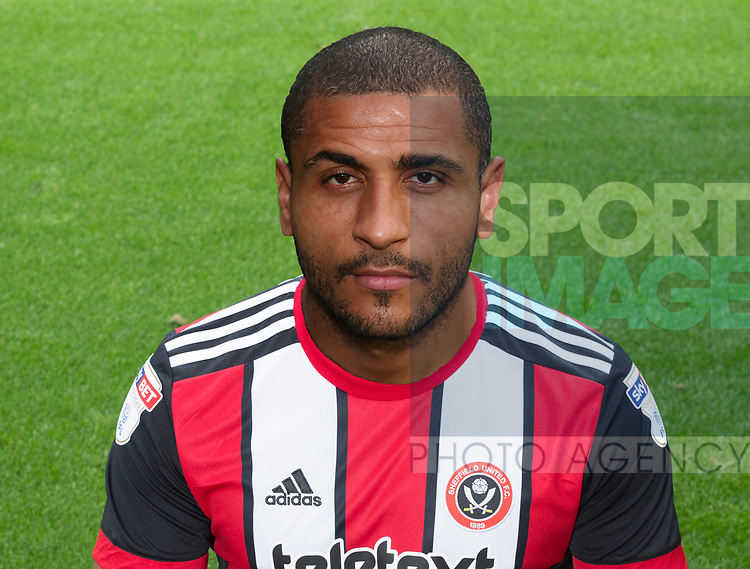 Leon Clarke of Sheffield Utd during the 2017/18 Photocall at Bramall Lane Stadium, Sheffield. Picture date 7th September 2017. Picture credit should read: Sportimage