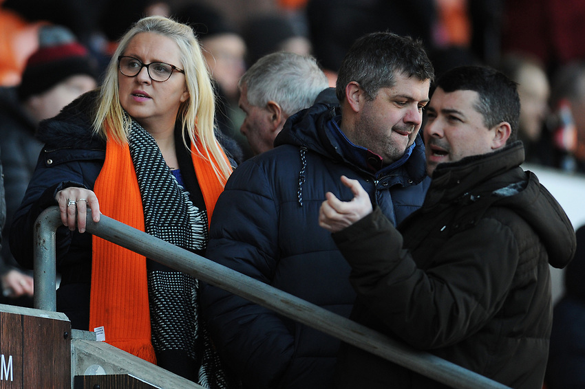 Blackpool fans enjoy the pre-match atmosphere <br /> <br /> Photographer Kevin Barnes/CameraSport<br /> <br /> Emirates FA Cup Second Round - Blackpool v Maidstone United - Sunday 1st December 2019 - Bloomfield Road - Blackpool<br />  <br /> World Copyright © 2019 CameraSport. All rights reserved. 43 Linden Ave. Countesthorpe. Leicester. England. LE8 5PG - Tel: +44 (0) 116 277 4147 - admin@camerasport.com - www.camerasport.com