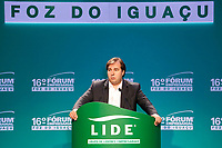 FOZ DO IGUA&Ccedil;U, PR, 21.04.2017 &ndash; LIDE - 16&ordm; F&oacute;rum Empresarial Foz do Igua&ccedil;u<br />  &ndash;   Rodrigo Maia, presidente da C&acirc;mera dos Deputados, durante o 16&ordm; F&oacute;rum Empresarial Foz do Igua&ccedil;u, na manh&atilde; desta sexta-feira (21). (Foto: Paulo Lisboa/Brazil Photo Press)