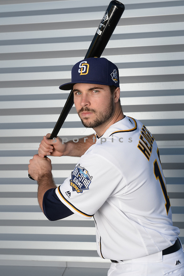 San Diego Padres Austin Hedges (18) during photo day on February 26, 2016 in Peoria, AZ.