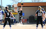 Western Nevada&rsquo;s Dakota Robinson makes an out against the College of Southern Nevada at Edmonds Sports Complex in Carson City, Nev., on Friday, April 1, 2016. <br />Photo by Cathleen Allison/Nevada Photo Source