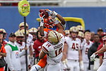Boston College Eagles linebacker Max Richardson (14) in action during the Servpro First Responder Bowl game between Boise State Broncos and Boston College Eagles at the Cotton Bowl Stadium in Dallas, Texas.