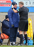 Ally McCoist getting a serious lecture from referee Mike Tumilty