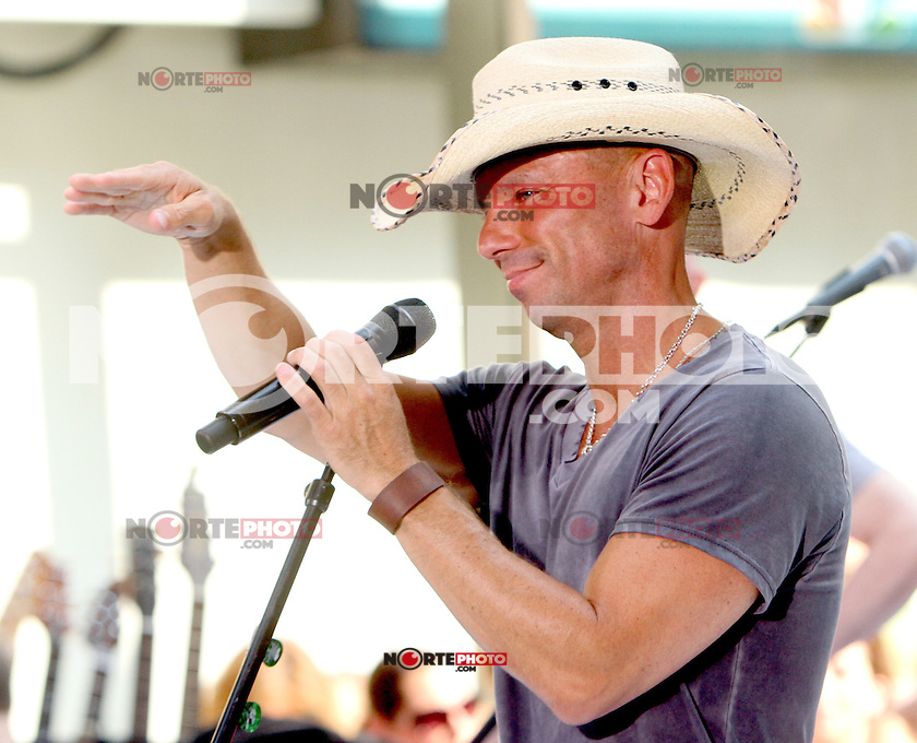Kenny Chesney at NBC's Today Show during the Toyota Concert Series in New York City. June 22, 2012. &copy; RW/MediaPunch Inc. NORTEPHOTO.COM<br />