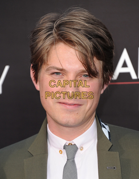 """Taylor Hanson of HANSON.""""The Hangover Part III"""" Los Angeles Premiere held at the Westwood Village Theater, Los Angeles, California, USA..May 20th, 2013.headshot portrait white shirt grey gray tie green suit shirt.CAP/DVS.©DVS/Capital Pictures"""