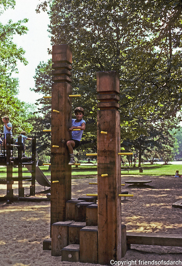 St. Louis: Tower Grove Park--play structure. Photo '78.