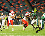 Football action between the Tulane Green Wave and Houston Cougars from the Louisiana Superdome on October 17, 2009.<br />