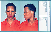 Washington area sniper suspect Lee Boyd Malvo is shown in a booking photo taken November 9, 2003 upon his transfer to the Chesapeake Correctional Center near Norfolk, Virginia. On the eve of the first day of his trial on Monday, defense lawyers are finalizing their plans for trying to keep the 18-year-old sniper suspect, also known as Lee Malvo, out of Virginia's death chamber.<br /> Credit: City of Chesapeake, VA via CNP