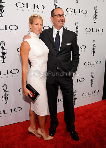 New York, NY- October 1: Jessica Seinfeld and Jerry Seinfeld attends the 2014 CLIO Awards on October 1, 2014 at Cipriani Wall Street in New York City.  Credit: John Palmer/MediaPunch
