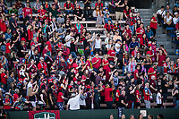Seattle, WA - Saturday August 26, 2017: Fans during a regular season National Women's Soccer League (NWSL) match between the Seattle Reign FC and the Portland Thorns FC at Memorial Stadium.