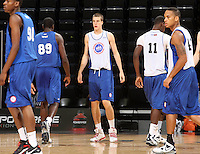Marshall Plumlee at the NBPA Top100 camp June 18, 2010 at the John Paul Jones Arena in Charlottesville, VA. Visit www.nbpatop100.blogspot.com for more photos. (Photo © Andrew Shurtleff)