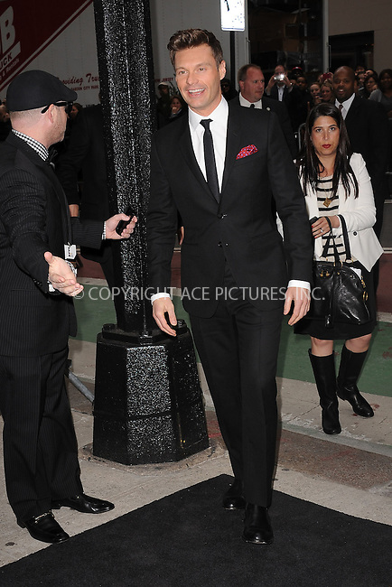 WWW.ACEPIXS.COM . . . . . .April 30, 2012...New York City....Ryan Seacrest arriving to attend the E! 2012 Upfront at Gotham Hall on April 30, 2012  in New York City ....Please byline: KRISTIN CALLAHAN - ACEPIXS.COM.. . . . . . ..Ace Pictures, Inc: ..tel: (212) 243 8787 or (646) 769 0430..e-mail: info@acepixs.com..web: http://www.acepixs.com .