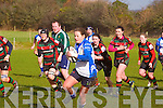 Tralee's Tralee's Cira O'Connor get away in the Tralee Ladies V Highfield Ladies at O'Dowd Park Tralee on Sunday