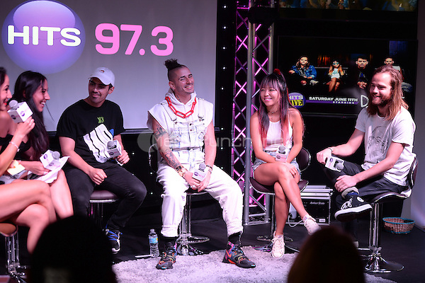 HOLLYWOOD, FL - JUNE 11: Joe Jonas, Cole Whittle, JinJoo Lee and Jack Lawless of DNCE visit radio station Hits 97.3 on June 11, 2016 in Hollywood, Florida. Credit: mpi04/MediaPunch