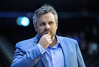 Radiosport commentator Dan McHardy arrives for the ANZ Premiership netball match between the Central Pulse and Mainland Tactix at TSB Bank Arena in Wellington, New Zealand on Monday, 14 May 2018. Photo: Dave Lintott / lintottphoto.co.nz