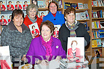 "SINGINGH: Mary O'Rourke MEP of Finna Fail, who signed her book ""Just Mary"" in O'Mahony's Bookshop Tralee on Saturday evening. L-r: Eilish Meehan, Eileen O'Keeffe, Ann Murphy  Kathleen Browne."