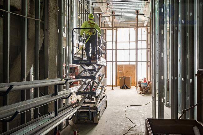 March 8, 2017; O'Neill Hall 1st floor under construction (Photo by Matt Cashore/University of Notre Dame)