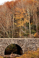A stone overpass along the Blue Ridge Parkway in North Carolina.