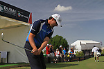 Padraig Harrington gets ready to start his round during  Day 3 at the Dubai World Championship Golf in Jumeirah, Earth Course, Golf Estates, Dubai  UAE, 21st November 2009 (Photo by Eoin Clarke/GOLFFILE)