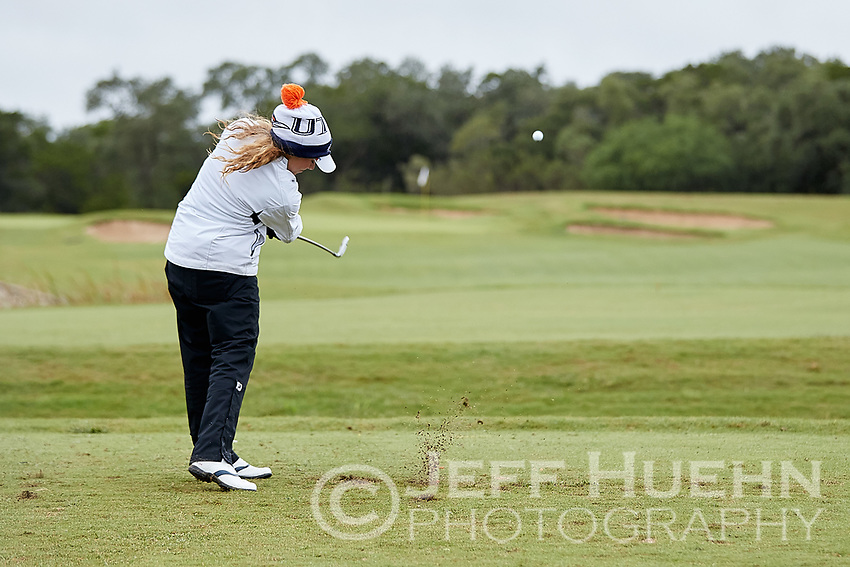 SAN ANTONIO, TX - OCTOBER 16, 2018: The University of Texas at San Antonio Roadrunners Women's Golf Team hosts the Maryb S. Kauth Invitational at the TPC San Antonio Canyons Course. (Photo by Jeff Huehn)