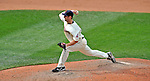 14 September 2008: Cleveland Indians' pitcher Jensen Lewis on the mound in relief against the Kansas City Royals at Progressive Field in Cleveland, Ohio. The Royal defeated the Indians 13-3 to take the 4-game series three games to one...Mandatory Photo Credit: Ed Wolfstein Photo