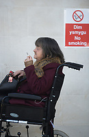 Pictured: Audrey Davies outside Swansea Crown Court.<br /> Re: A pensioner who claimed her husband left home three days after they moved into a new house, but was in fact living with him for eight years, fraudulently claimed £50,000 in benefits, Swansea Crown court has heard.<br /> Audrey Jean Davies received payments of pension credits, and housing and council tax benefits over that period.<br /> Prosecutor Ieaun Rees, told Swansea Crown Court that three days after they moved to their house in the Penlan area of Swansea, Davies said her husband left.<br /> She was sentenced to eight months in prison, suspended for 18 months.