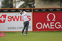 Matthew Fitzpatrick (ENG) tees off the 2nd tee during Saturday's Round 3 of the 2017 Omega European Masters held at Golf Club Crans-Sur-Sierre, Crans Montana, Switzerland. 9th September 2017.<br /> Picture: Eoin Clarke | Golffile<br /> <br /> <br /> All photos usage must carry mandatory copyright credit (&copy; Golffile | Eoin Clarke)