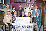 CHEQUE PRESENTATION: Johnny Conway, Captain of the Greyhound Golfing Society presented a cheque for EUR5,000 to Denise Griffin of the Kerry Rape & Sexual Abuse Centre on Wednesday night in the Greyhound Bar, Tralee. Front l-r: Aidan O'Connor (president), Denise Griffin, Danny Conway (captain), Eleanor Collins and Anna O'Donoghue. Back l-r: Donie Houlihan, Alice Kavanagh, Richie Barry, Eddie Wall (vice captain) and Eoin O'Sullivan.   Copyright Kerry's Eye 2008
