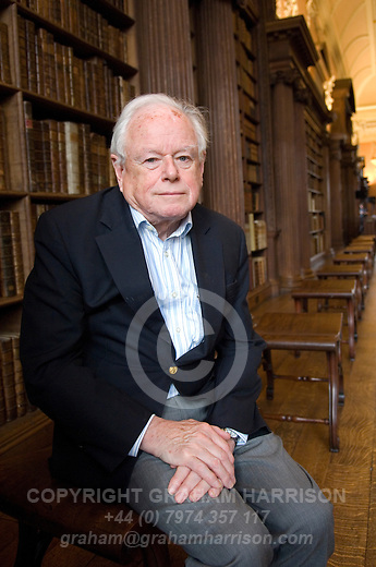 Sir Anthony Kenny in the Library at Christ Church during the Sunday Times Oxford Literary Festival, UK, 2-10 April 2011. <br /> <br /> PHOTO COPYRIGHT GRAHAM HARRISON  graham@grahamharrison.com<br /> +44 (0) 7974 357 117<br /> Moral rights asserted.