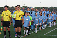 Piscataway, NJ - Saturday Aug. 27, 2016: Danielle Chesky, Amilcar Sicaju, Chicago Red Stars starting eleven prior to a regular season National Women's Soccer League (NWSL) match between Sky Blue FC and the Chicago Red Stars at Yurcak Field.