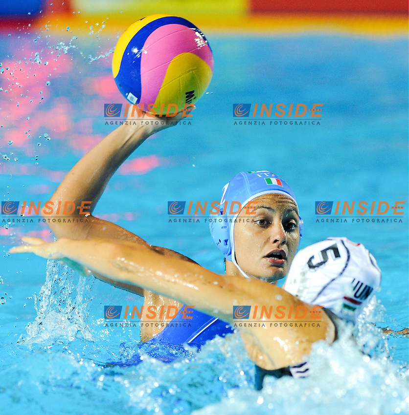 Roma 21th July 2009 - 13th Fina World Championships From 17th to 2nd August 2009..Water polo Women's..ITA-HUN Abbate Simona and Szucs Gabriella..photo: Roma2009.com/InsideFoto/SeaSee.com