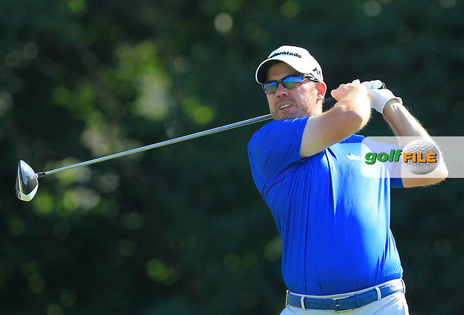 Richie Ramsey (SCO) on the 2nd tee during Round 1 of the 2016 KLM Open at the Dutch Golf Club at Spijk in The Netherlands on Thursday 08/09/16.<br /> Picture: Thos Caffrey | Golffile