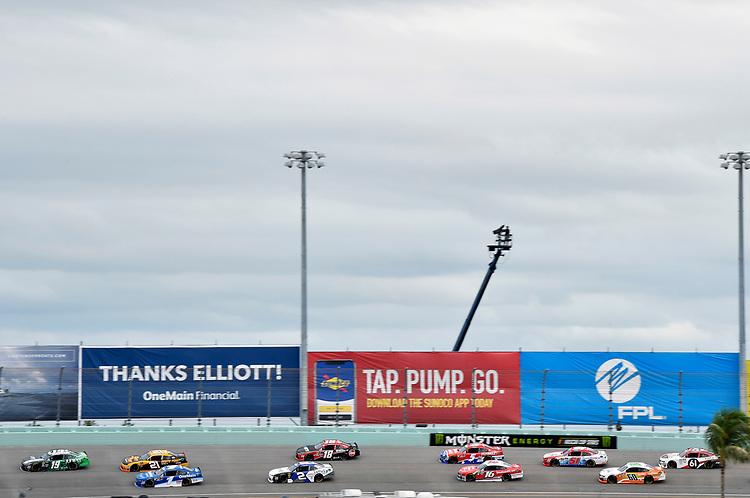 #19: Brandon Jones, Joe Gibbs Racing, Toyota Camry Juniper and #1: Elliott Sadler, JR Motorsports, Chevrolet Camaro Chevrolet OneMain Financial