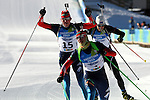 Aleksandr Pechenkin RUS competes during the Men 12.5 km pursuit Biathlon race as part of the Winter Universiade Trentino 2013 on 16/12/2013 in Lago Di Tesero, Italy.<br /> <br /> &copy; Pierre Teyssot - www.pierreteyssot.com