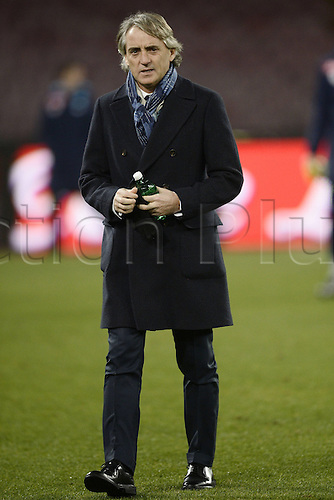 19.01.2016. Naples, Italy. Italian Cup football, Napoli versus Inter Milan.  Roberto Mancini Inter Coach