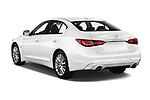 Car pictures of rear three quarter view of 2018 Infiniti Q50 LUXE 4 Door Sedan Angular Rear