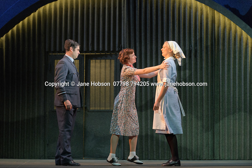 English Touring Opera presents XERXES, by George Frideric Handel, at the Hackney Empire, prior to setting off on a UK tour. Picture shows: Galina Averina (Atalanta), Clint van der Linde (Arsamenes), Laura Mitchell (Romilda)